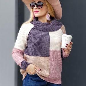 YELANI Ultra soft ColorBlock Sweater
